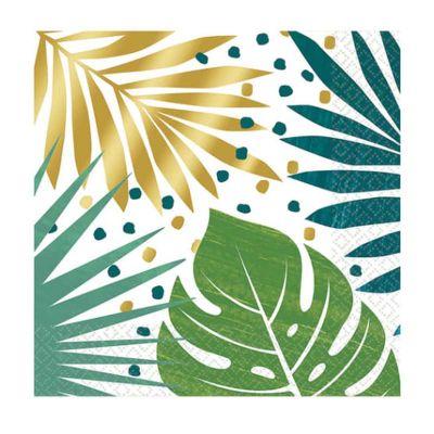 serviettes-feuilles-palmier-tropical-jungle|jourdefete.com