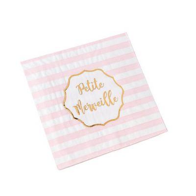 serviettes-petite-merveille-baby shower-bapteme | jourdefete.com