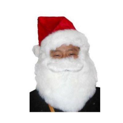 Bonnet et Barbe du Père Noël de Luxe