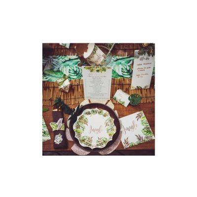 sets-table-feuilles-tropicales-decoration | jourdefete.com