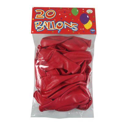 20 Ballons de Baudruche Unis Rouge | jourdefete.com