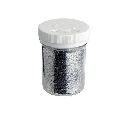 Pot de paillettes argentées 75 gr