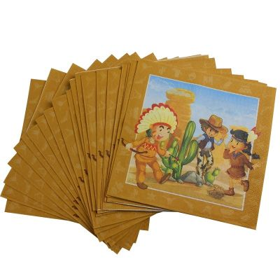 20 Serviettes - Collection Cowboys et Indiens