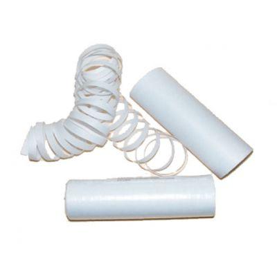 Sachet de 4 rouleaux de serpentins blancs