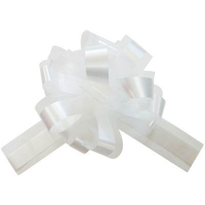 5 Noeuds automatiques en tulle - Blanc