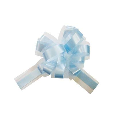 5 Noeuds automatiques en tulle - Bleu Ciel