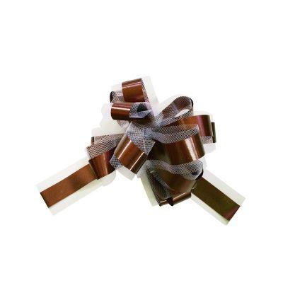 5 Noeuds automatiques en tulle - Chocolat