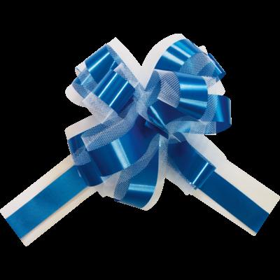 Noeud Tulle Bleu