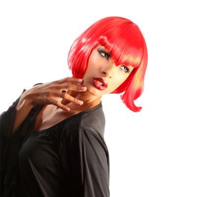 Perruque Colorée Vampirella Femme Rouge