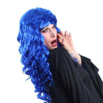 Perruque Colorée Mystica Femme Bleue