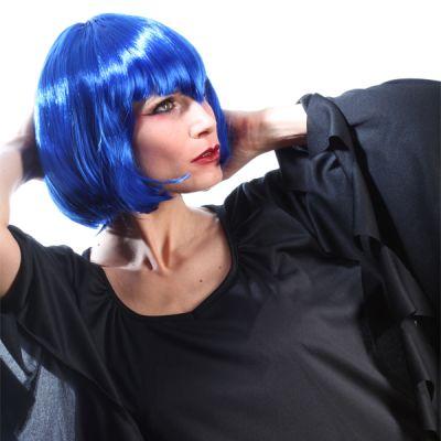 Perruque Colorée Vampirella Femme Bleue