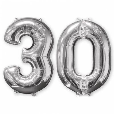 Ballons Hélium - 30 ans - Argenté
