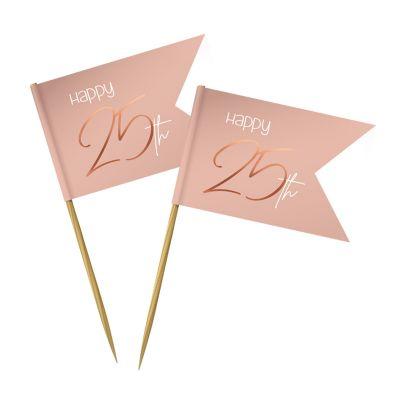 pics en bois blush et rose gold pour anniversaire   jourdefete.com