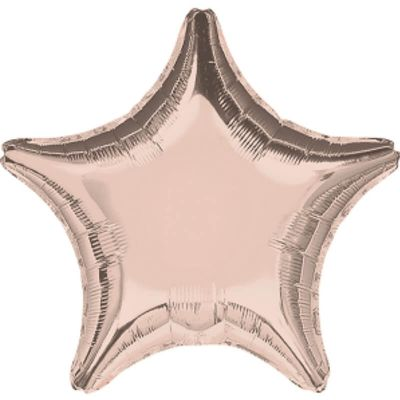 Ballon à air Etoile Métallique Rose Cuivré