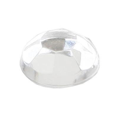 160 Perles strass autocollantes - transparent