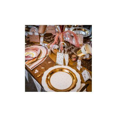 sacs-cadeaux-pois-or-festons-tassels | jourdefete.com