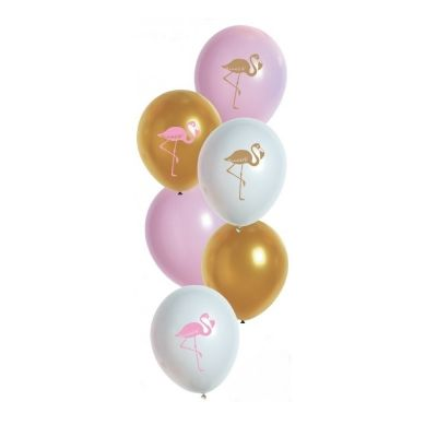 6 Ballons de Baudruche Flamant Rose