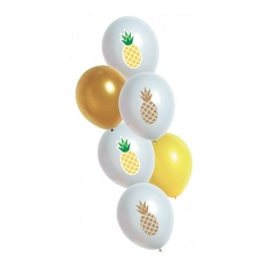 6 Ballons de Baudruche Ananas
