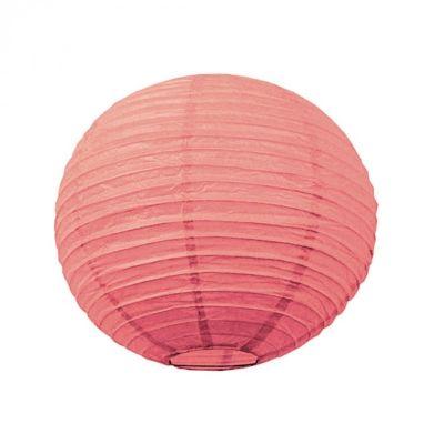 Lanterne Japonaise en Papier Corail - 50 cm