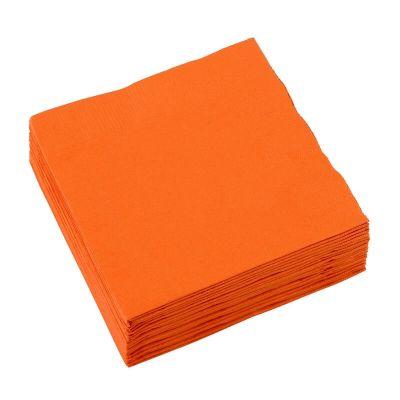 Sachet de 20 serviettes cocktail - Orange