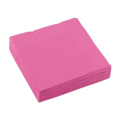 Sachet de 20 serviettes cocktail - Rose Fuchsia
