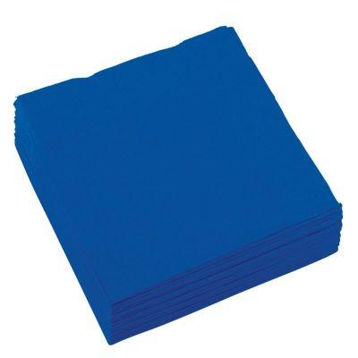 Sachet de 20 serviettes cocktail - Bleu Roi