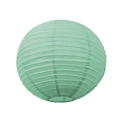 Lanterne Japonaise Vert Menthe - 35 cm