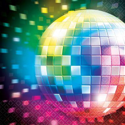 Serviettes x16 - Disco fever