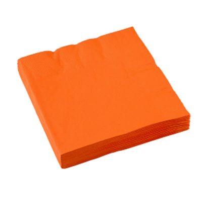 Sachet de 20 serviettes - Orange