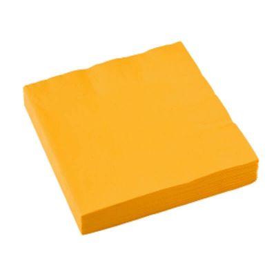 Sachet de 20 serviettes - Jaune Soleil