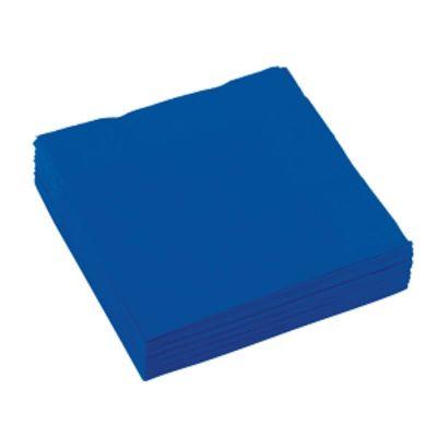 Sachet de 20 serviettes -  Bleu Roi