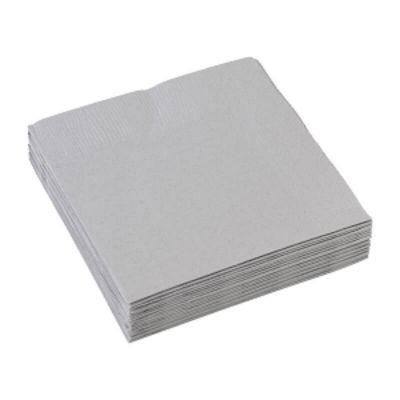 Sachet de 20 serviettes - Gris