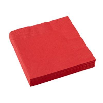 Sachet de 20 serviettes - Rouge