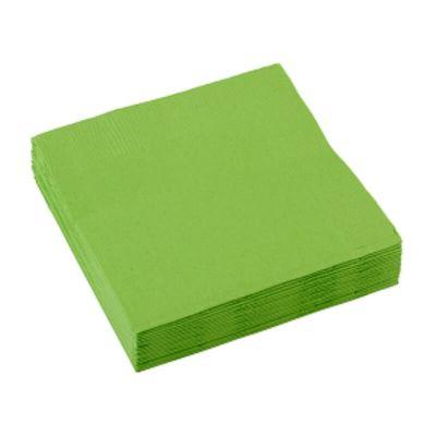Sachet de 20 serviettes - Vert Kiwi