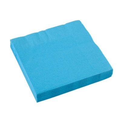 Sachet de 20 serviettes - Bleu Turquoise