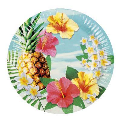 """6 Grandes Assiettes """"Hawaï Paradise"""""""