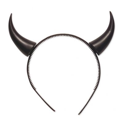 Serre-Tête Cornes de Démon Noir
