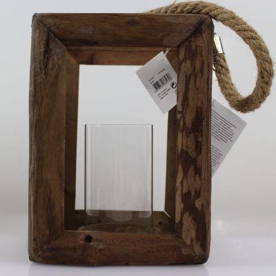 Lanterne ouverte en bois avec aussière - Petit Modèle