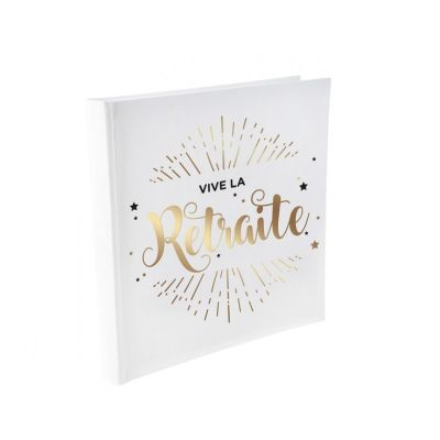 """Livre d'Or """"Vive La Retraite"""" - Elégant"""
