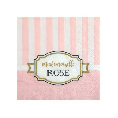 """20 Serviettes - Collection """"Mademoiselle Rose"""""""