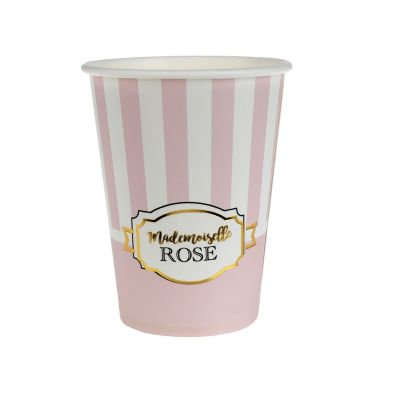 """10 Gobelets - Collection """"Mademoiselle Rose"""""""