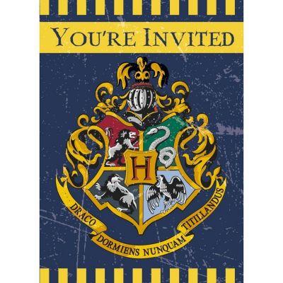 Sachet de 8 cartons d'invitations avec enveloppe - Harry Potter