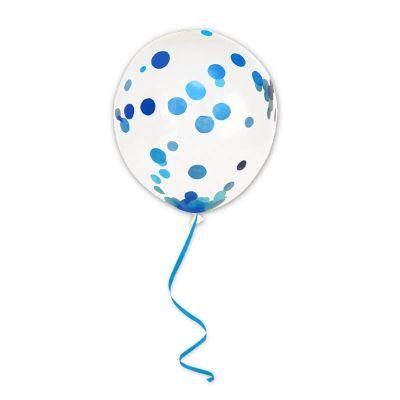6 ballons à confettis avec ruban couleur au choix | jourdefete.com