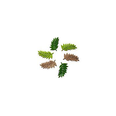 feuilles-laurier-bois-paillettes-decoration-table | jourdefete.com