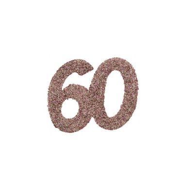 6 grands confettis de table paillettes rose gold age au choix   jourdefete.com