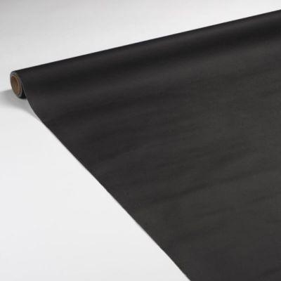 Rouleau de Nappe en Voie Sèche Intissé Noir 25 m