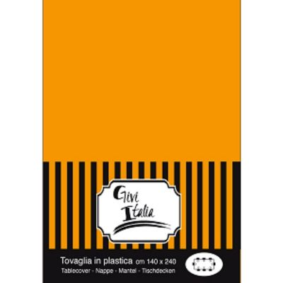 Nappe en plastique unie - Orange