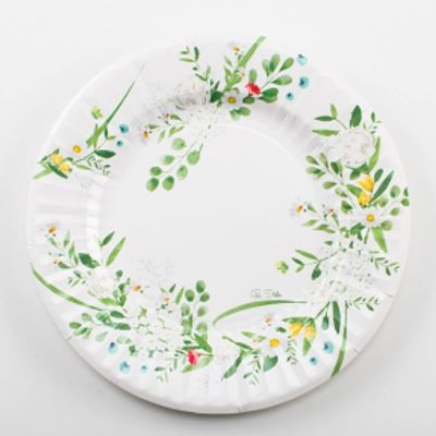 Sachet de 8 assiettes Garden Party - 27 cm