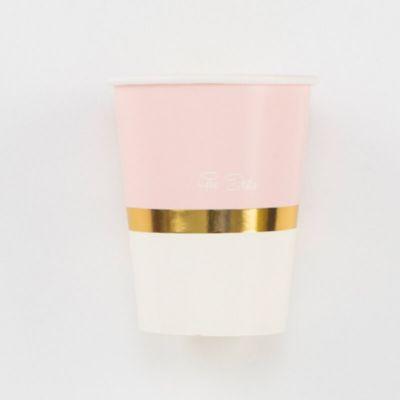 Sachet de 8 gobelets So Chic - Rose Pastel