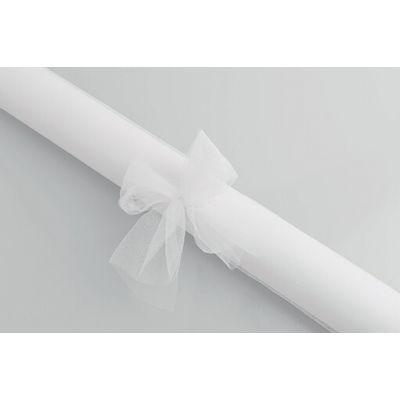 Rouleau de tulle blanc